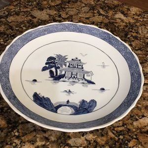 OVERJOY HAND PAINTED SERVING DISH